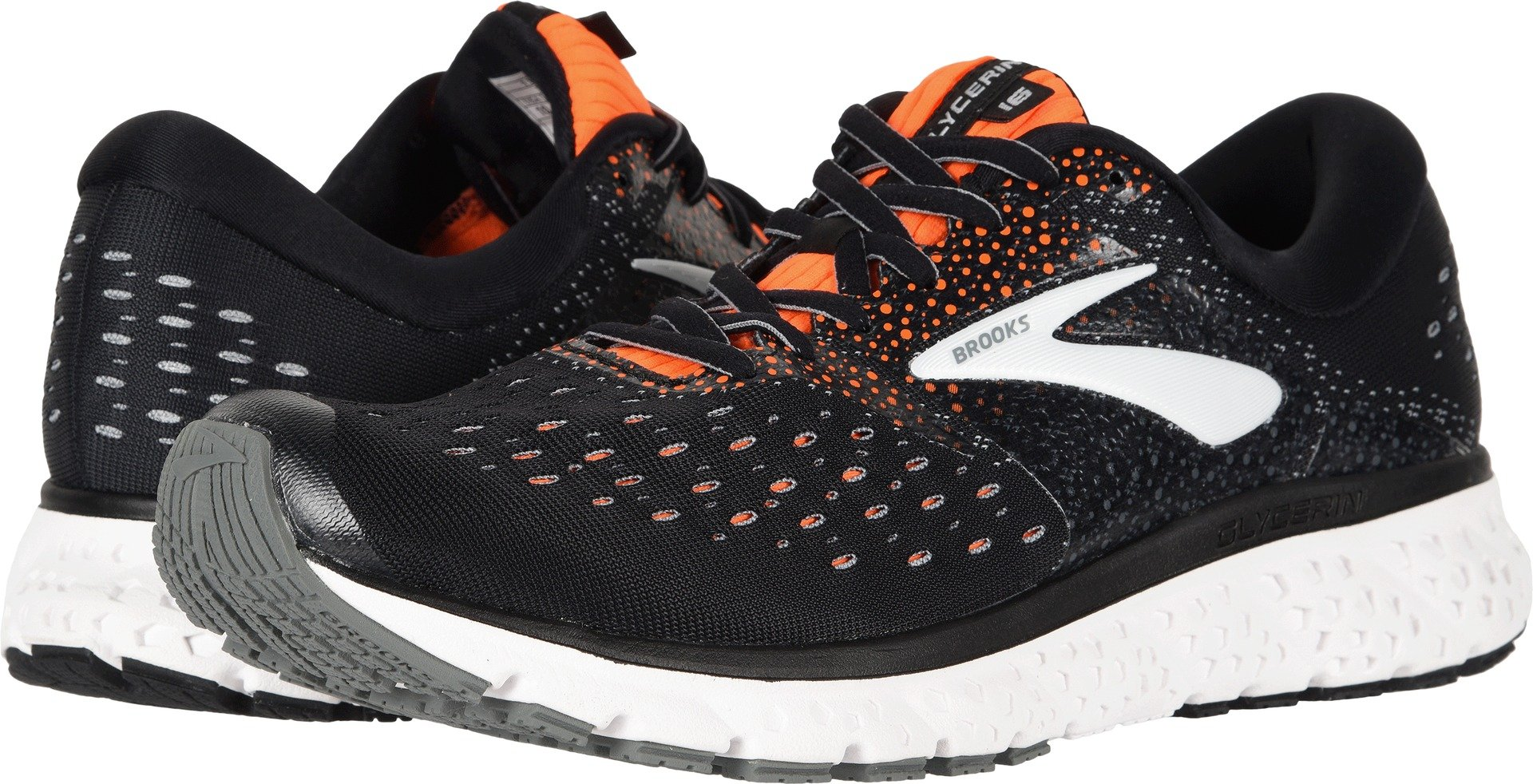 e23b73fc7f164 Galleon - Brooks Men s Glycerin 16 Black Orange Grey 11.5 EE US