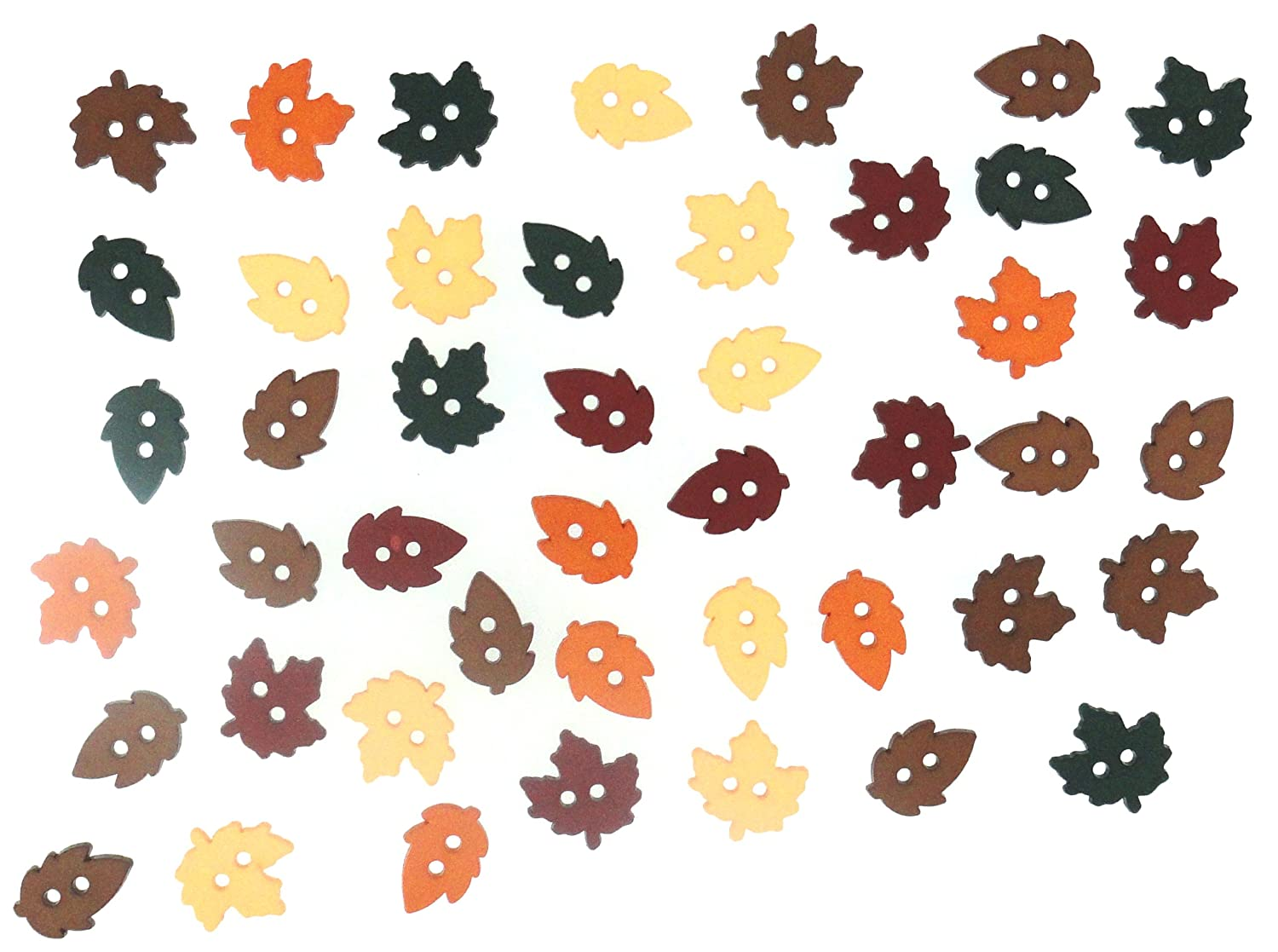 Dress It Up Buttons//Embellishments approx 12mm Tiny Raking Leaves approx 32