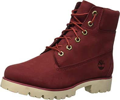 chaussure timberland femme rouge