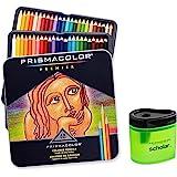 Prismacolor Premier 软芯彩色铅笔,一套 48 种颜色 (3598T) + Prismacolor Scholar 彩色铅笔刀 (1774266)