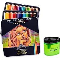 Prismacolor Premier Soft Core Colored Pencil Set of 48 Assorted Colors (3598T) + Prismacolor Scholar Colored Pencil…