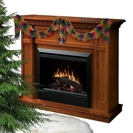 Amazon Com Rainbow Christmas Swag Garland Fireplace Mantle Decor