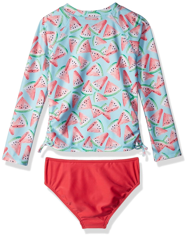 Nautica Girls Fashion Rashguard Swim Suit Set with UPF 50 Sun Protection NDO0046Q