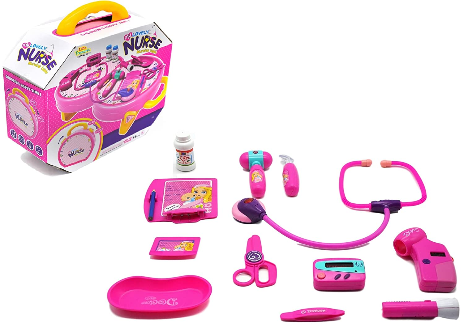well wreapped my lovely pink dr doctor medical kit play set for