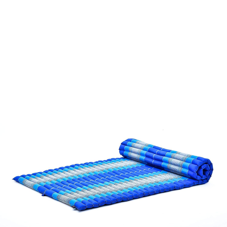 Leewadee XL Colchoneta Thai Enrollable Ancha, 200x105x5 cm, Colchón De Invitados Esterilla De Yoga Futon Masaje Thai Colchoneta De Dormir Orgánico ...