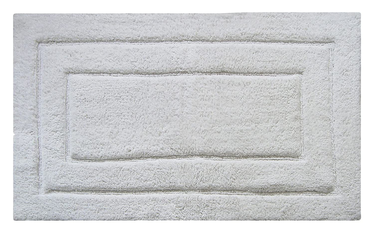 "Chardin Home Classic Bath Rug, Large 27""X45"" White, 100% Pure Cotton, Super Soft, Plush & Absorbent with Latex Spray Non-skid Backing"