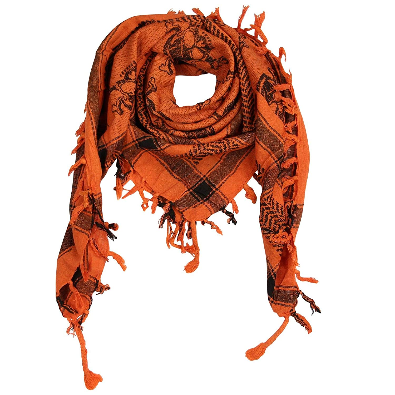 Superfreak® Palituch mit Totenkopf-Muster 4°PLO Schal°100x100 cm°Pali Palästinenser Arafat Tuch°100% Baumwolle – alle Farben!!!
