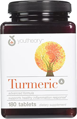 Youtheory Turmeric Advanced Formula Tablets – 180 ct