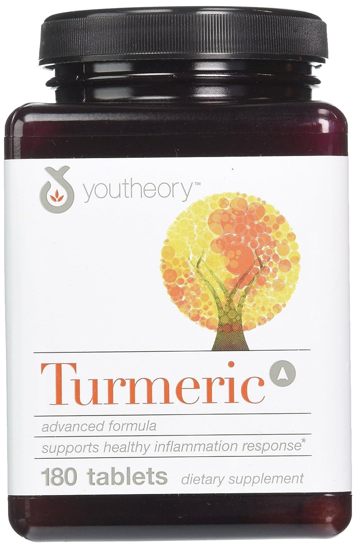Youtheory Turmeric Advanced Formula Tablets – 180 ct