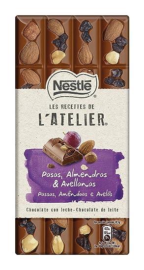 Nestlé Chocolate con leche con uvas pasas, avellanas y almendras - 195 gr
