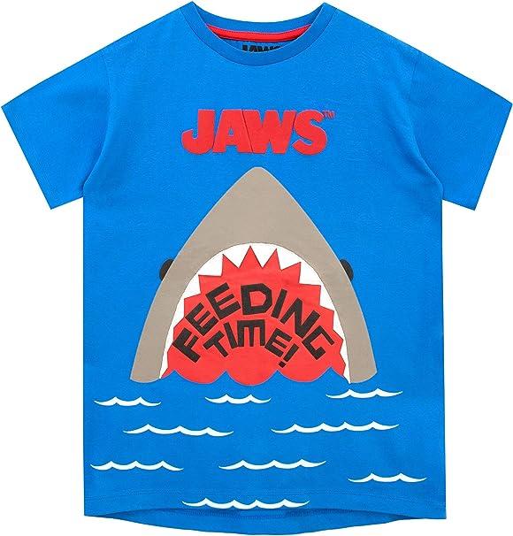 Jaws Camiseta de Manga Corta para niños Tiburón: Amazon.es: Ropa y accesorios
