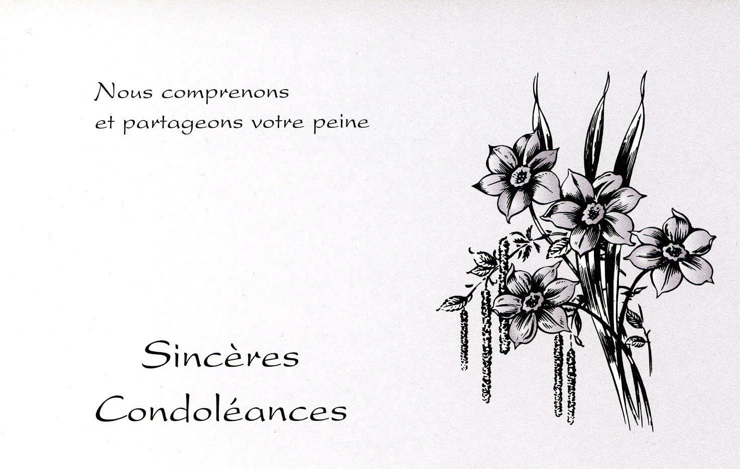 Lot De 5 Cartes De Condoleances Enveloppes Amazon Fr Fournitures De Bureau