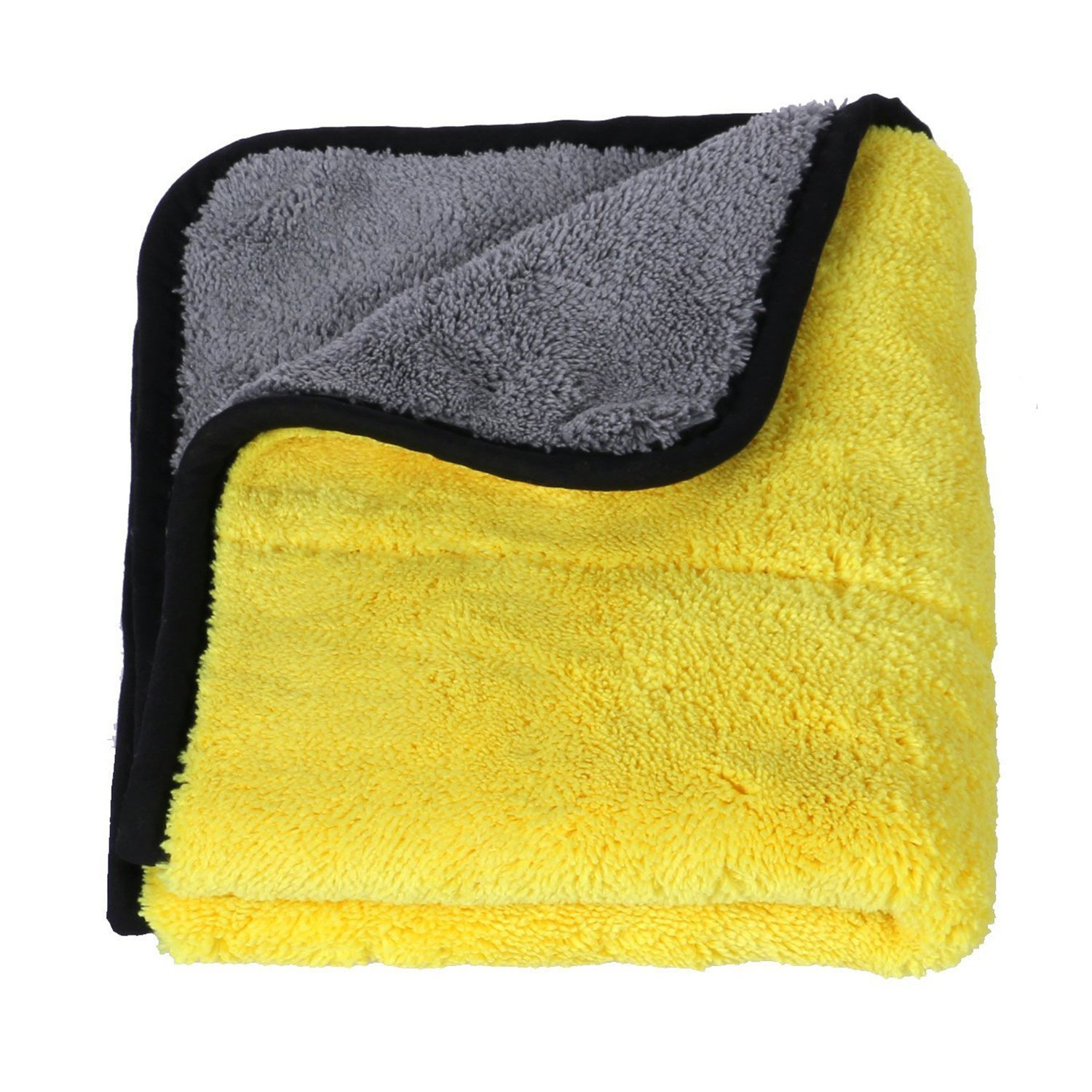 16 x 16 Auto Drying Towel for Car Care Polishing Washing Waxing Dusting and Detailing Faireach Microfibre Car Cleaning Cloths Set of 4