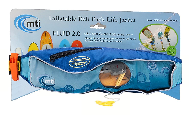 Amazon.com   MTI Adventurewear Fluid 2.0 Inflatable Belt Pack PFD Life  Jacket efb950e46