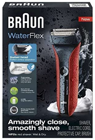 Braun 00000 WaterFlex WF2s Electric Shaver 5 Red
