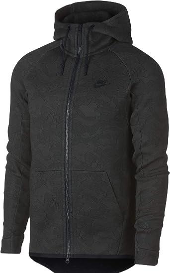 Nike Tech Toison Funnel Neck Hommes Veste Polaire (Noir)