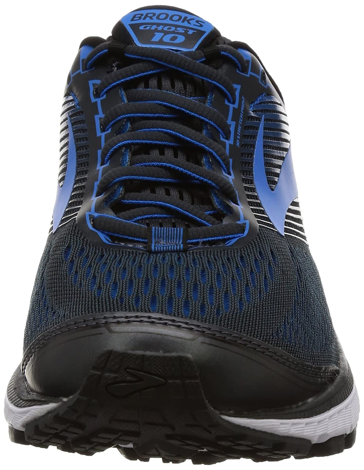Amazon.com | Brooks Men's Ghost 10 Ebony/Metallic Charcoal/Electric Blue 11  EE US | Road Running