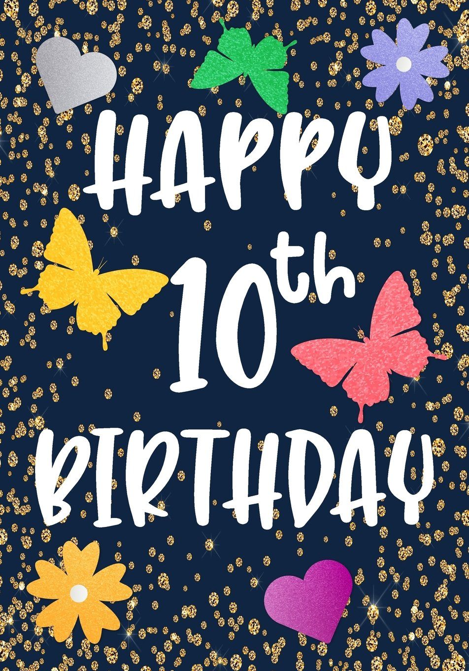 Download Happy 10th Birthday: Birthday Gifts For Her, Birthday Journal Notebook For 10 Year Old For Journaling & Doodling, 7 x 10, (Birthday Keepsake Book) pdf