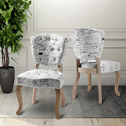 Amazon Com Harper Bright Designs Velvet Fabric Tufted Dining Chair