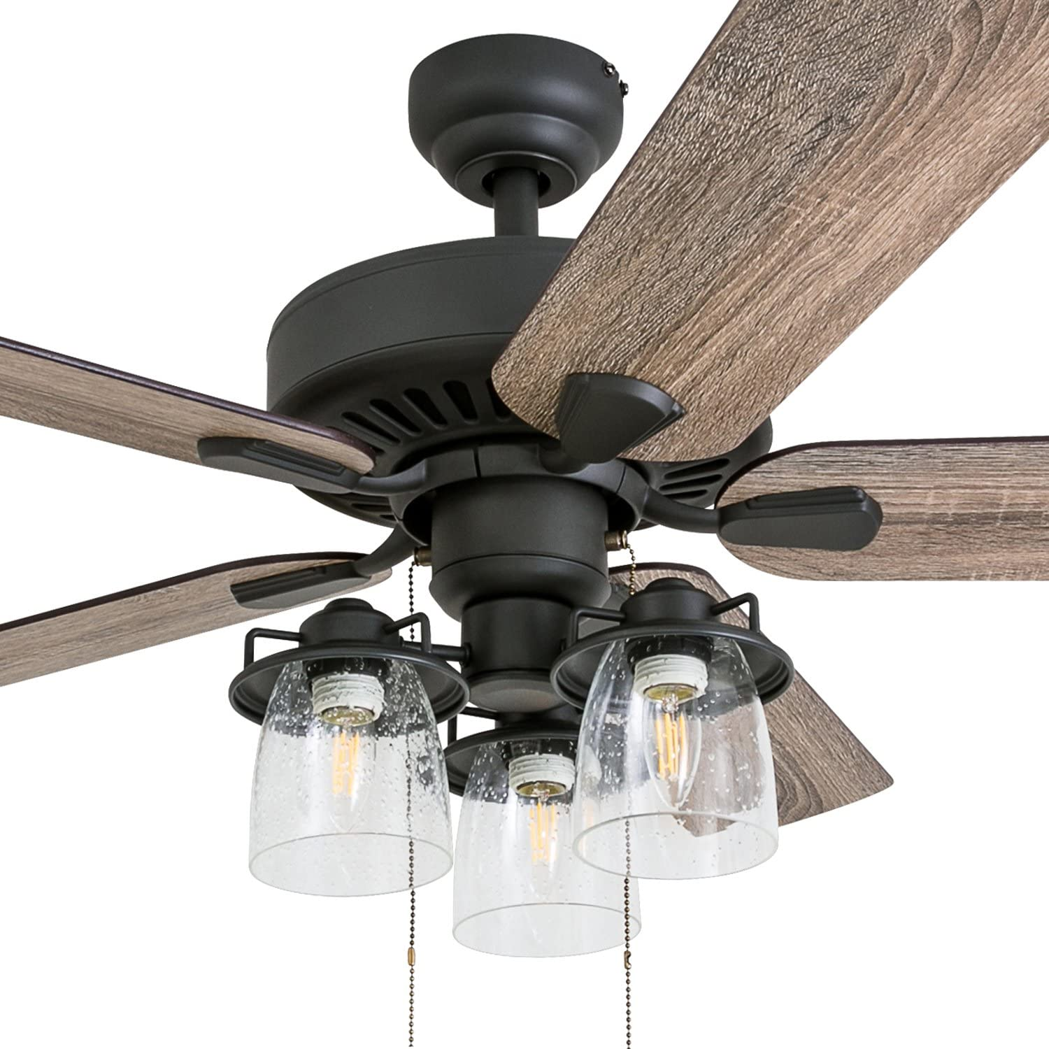 Amazon Com Prominence Home 50585 01 Briarcrest Farmhouse Ceiling Fan 52 Barnwood Tumbleweed Aged Bronze Home Improvement