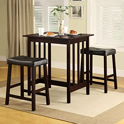 Dining Table Set Counter Height 3 Piece Nova Espresso Wood. Dining Room Sets  Are A