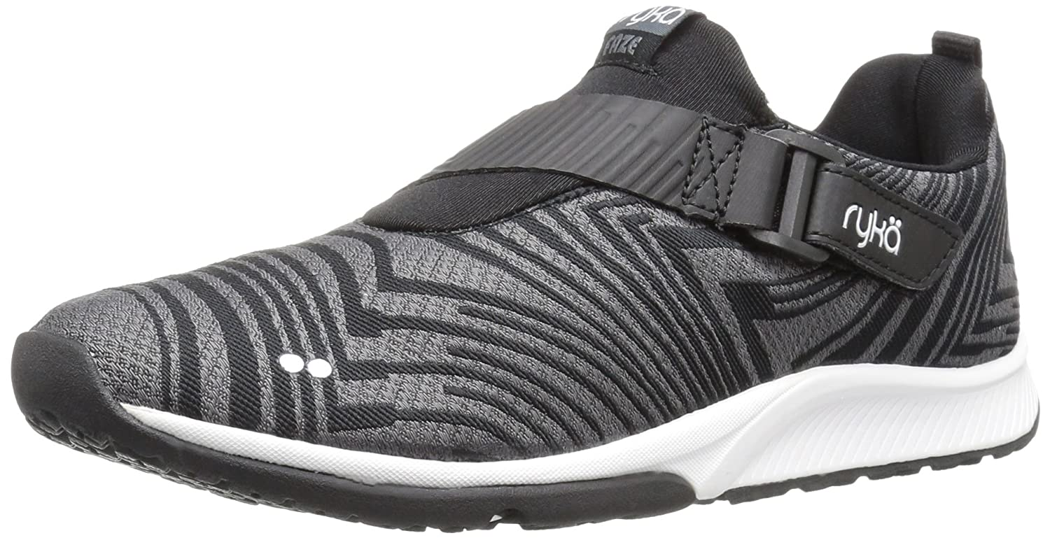 Ryka Women's Faze Cross-Trainer Shoe B01KW1CEDM 6 B(M) US|Black/Grey