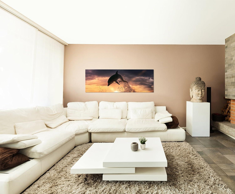 I quadri sono montati su telai di vero legno Quadro 120 x 40 cm modello panorama Stampa artistica intelaiata e pronta da appendere