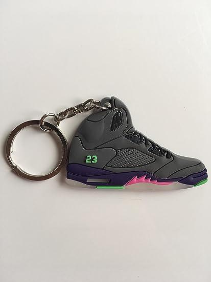separation shoes 57572 a9b13 Jordan Retro 5 Bel-Air Sneaker Keychain Shoes Keyring AJ 23 OG