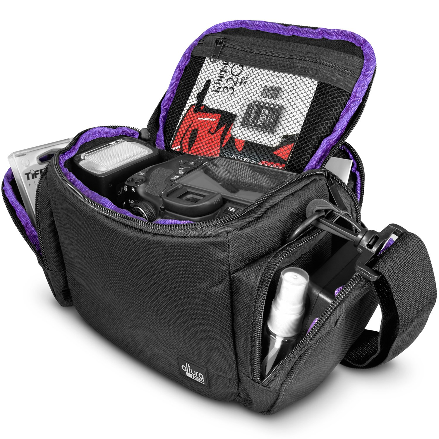 Medium Camera Bag Case by Altura Photo for Nikon, Canon, Sony DSLR and Mirrorless Cameras and Lenses