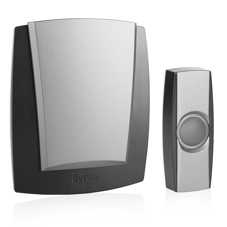 Byron BY503ZE Carillon sans Fil gris mobile et Sonnette