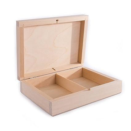 SEARCHBOX Caja de madera doble para cartas / 2 ...