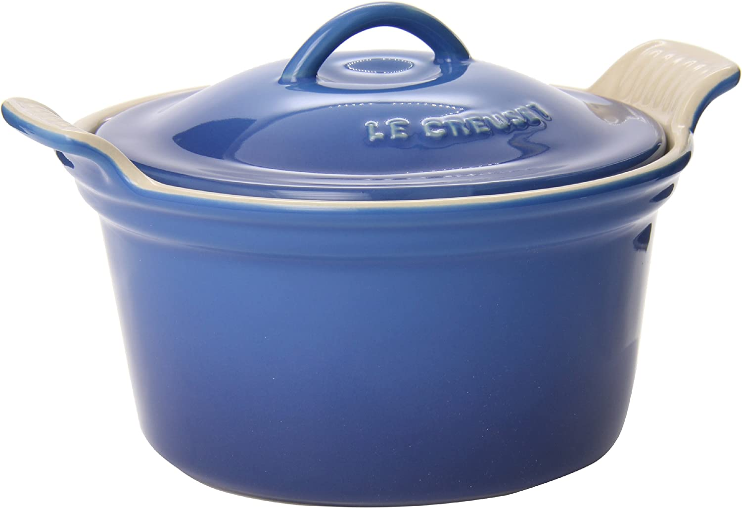 Le Creuset PG1560-1359 Heritage Stoneware Covered Cocotte, 18oz., Marseille