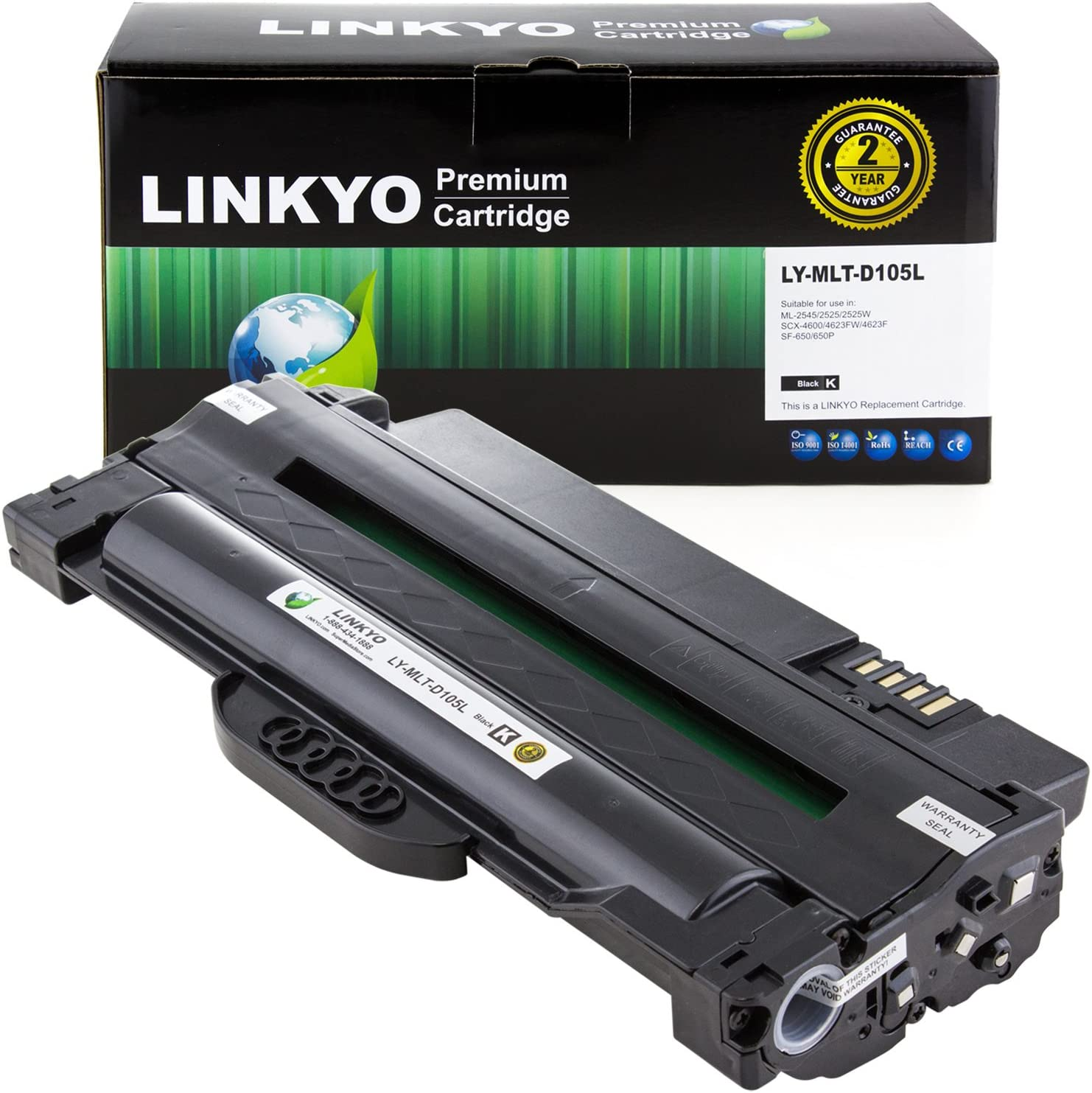 SuppliesOutlet Compatible Toner Cartridge Replacement for Samsung MLT-D105L for Use with ML-2525W Black,1 Pack