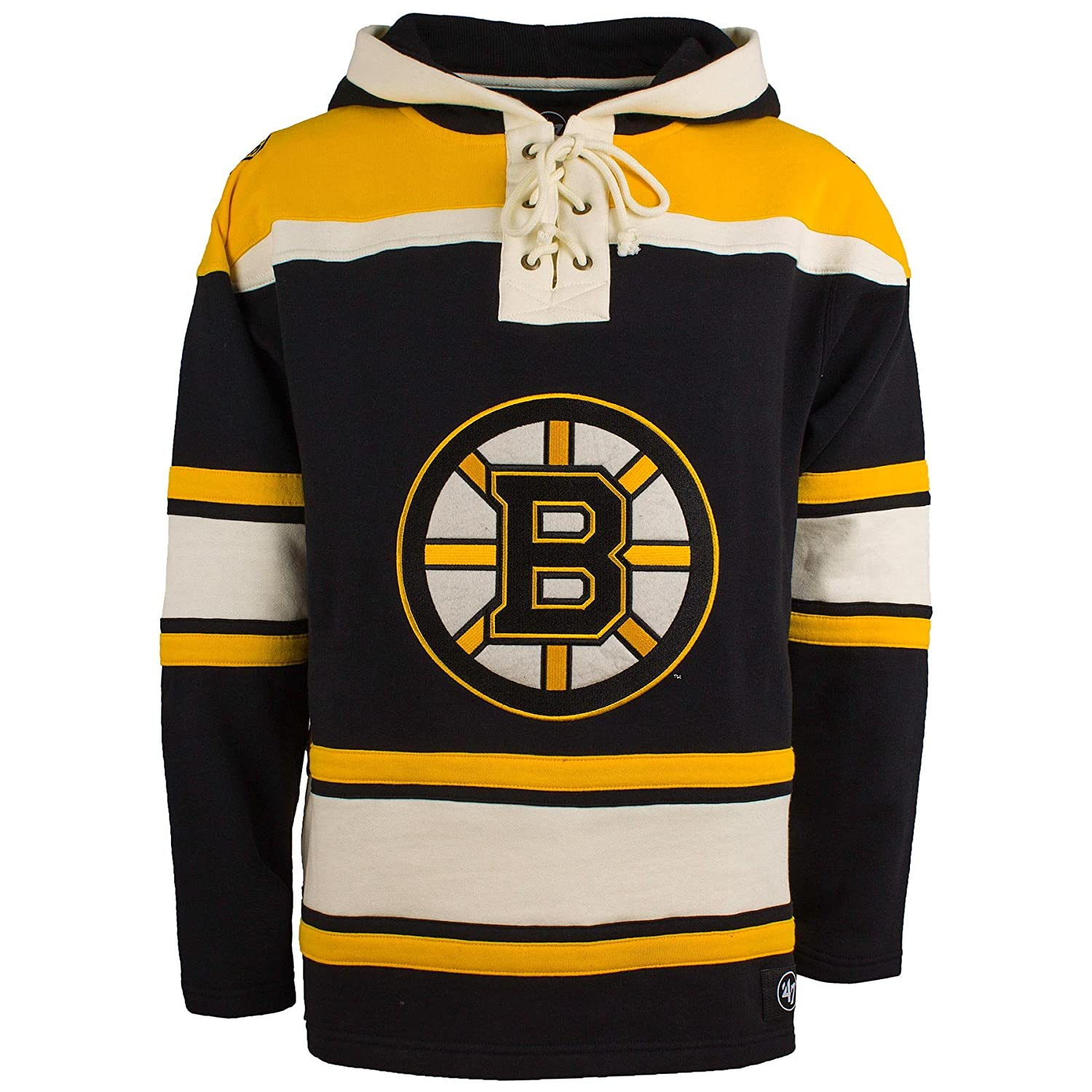 Amazon.com    47 Boston Bruins NHL Heavyweight Jersey Lacer Hoodie   Sports    Outdoors 21834baf2