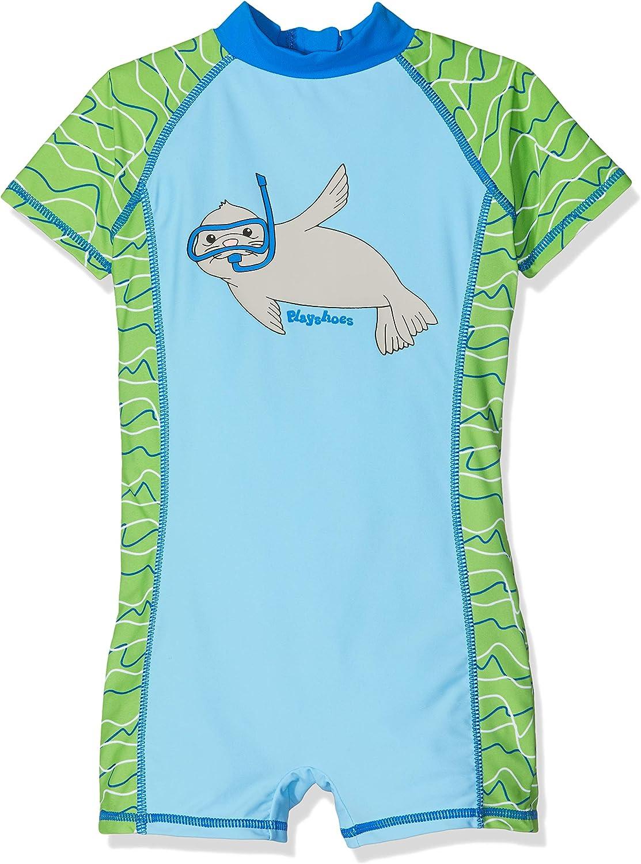 Playshoes Jungen UV-Schutz Bade-Set Robbe Badehose