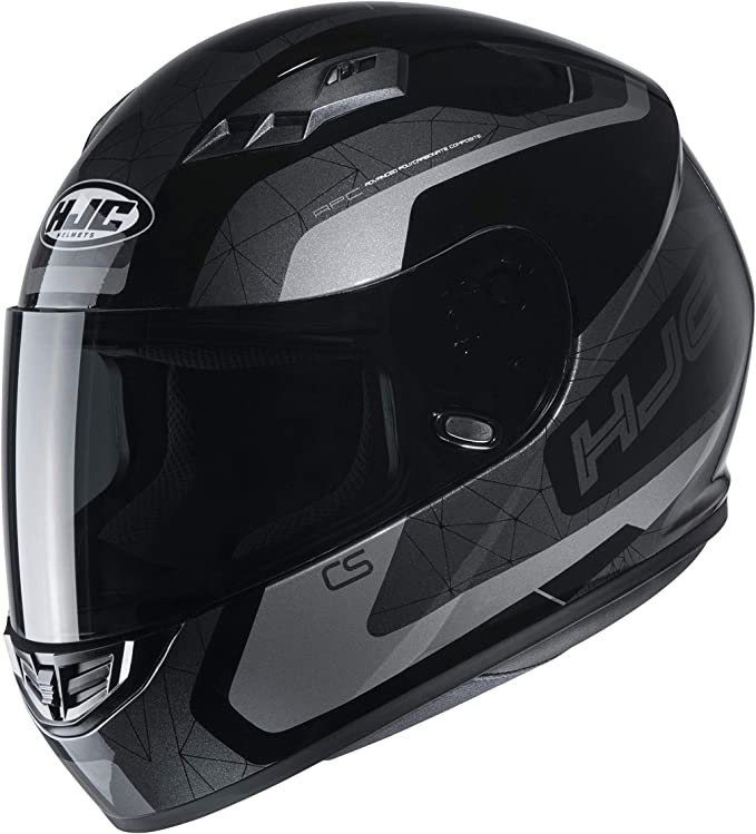 Hjc Helmets Herren Nc Motorrad Helm Schwarz Grau Xl Auto