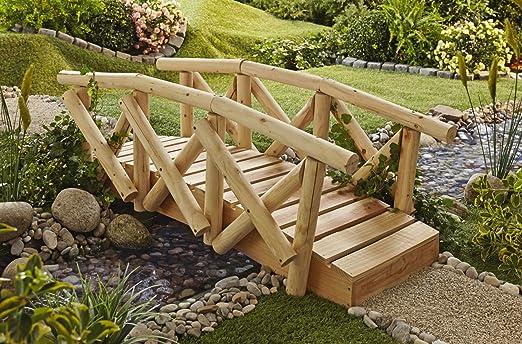 Jardín Puente con barandilla Jardín Puente puente puente Madera Jardín Decoración Estanque Transición