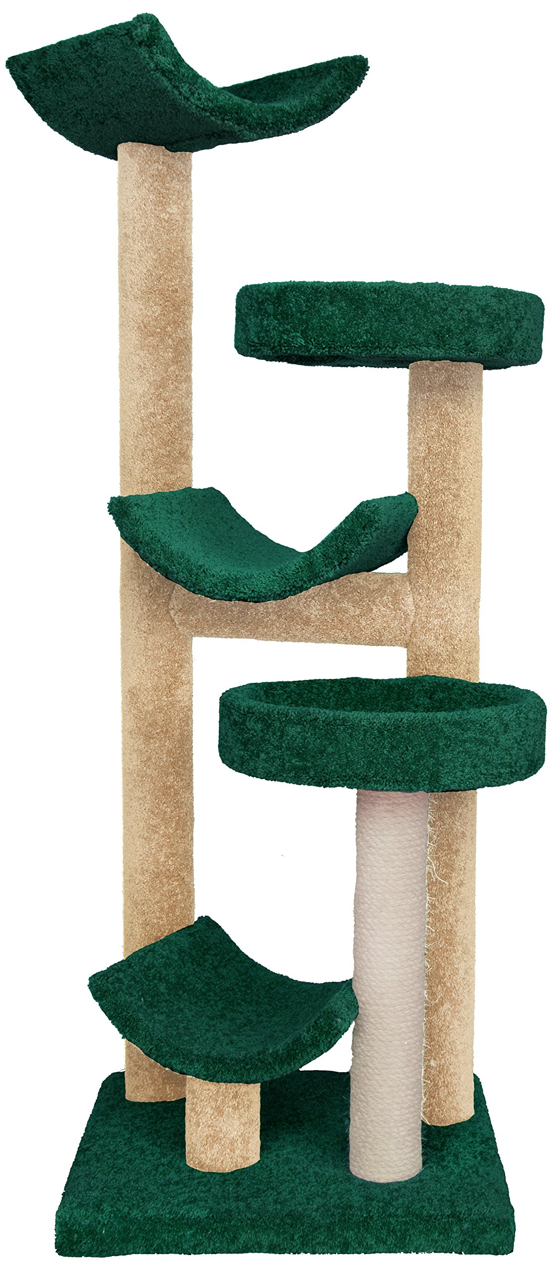Molly and Friends A Five Tier Scratching Post Funiture,Green/Beige