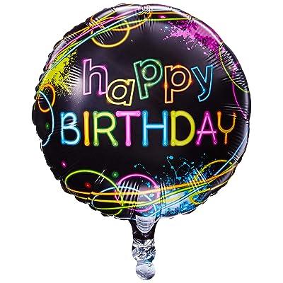 """Glow Party 18"""" Round Foil Balloon: Toys & Games"""