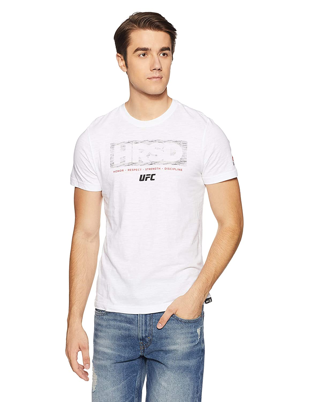 Reebok UFC FG Hrsd tee Camiseta, Hombre, Blanco, S BUY20