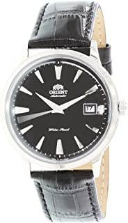 Orient ER24004B Mens Bambino Automatic Black Dial Black Leather Strap Mechanical Watch