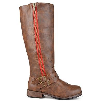 2d2cbd4be640 Brinley Co. Womens Regular and Wide-Calf Knee-High Side-Zipper Buckle