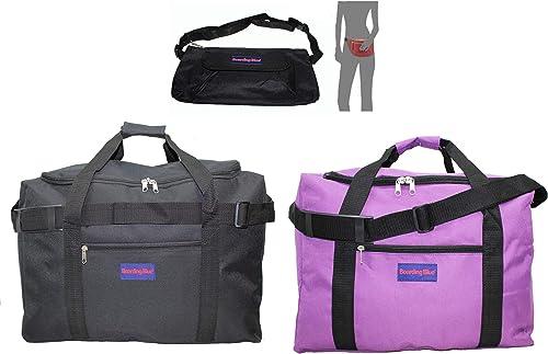 Boardingblue Under Seat 18 Duffel Bag Personal Item for Spirit Frontier Airlines Bonus Purple Black