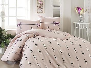 gyptien parure de lit simple 2 pices housse de couette en lin ruban rose poudre violet - Parure De Lit Rose Poudre
