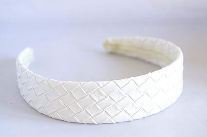 Diadema blanca forrada trenzada. Envío GRATIS 72h: Amazon.es: Belleza