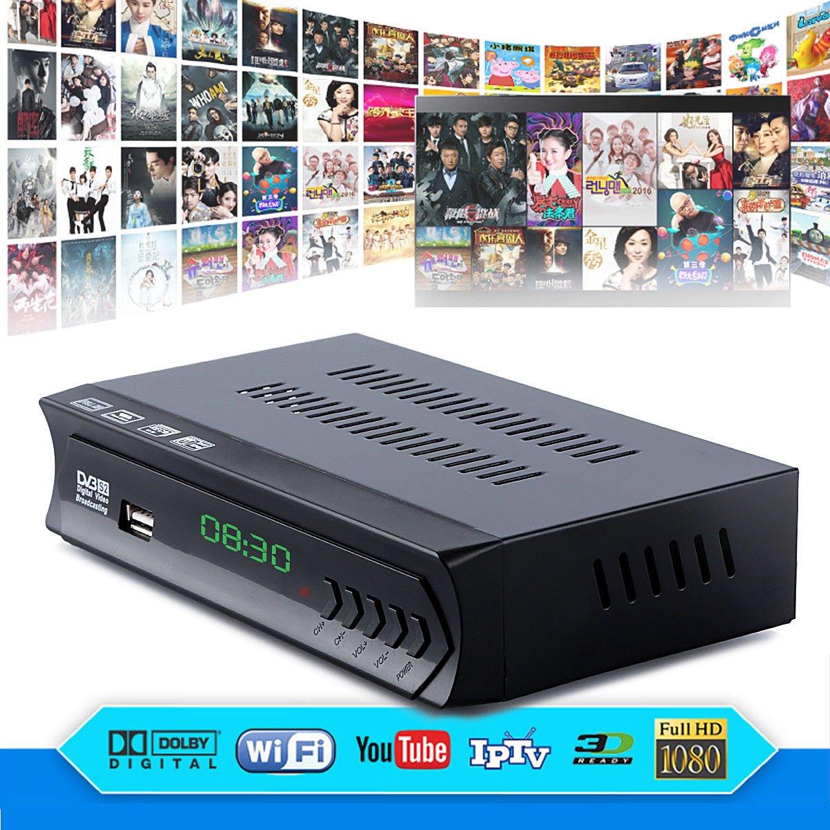 FidgetFidget DVB-S2 Digital Satellite + Wifi IPTV Combo AC3 Receiver Blind TV BOX IKS Youtube by FidgetFidget