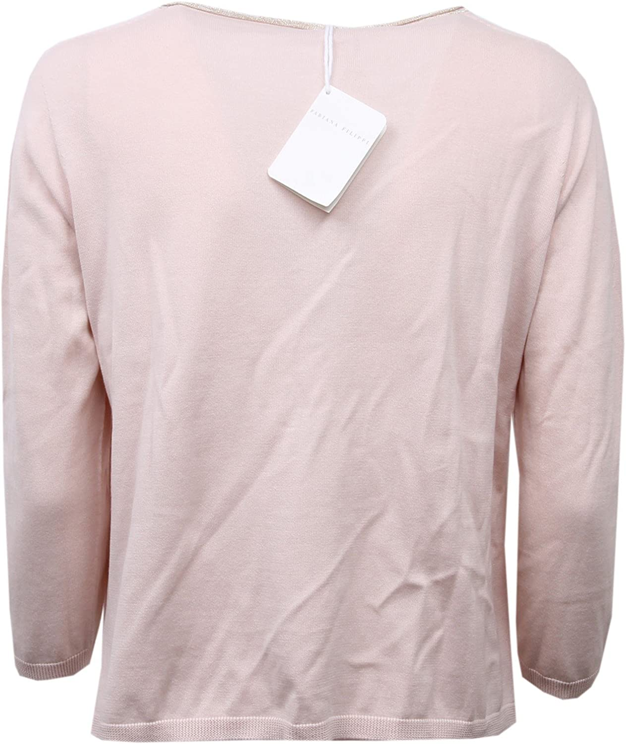 Fabiana Filippi D1352 Cardigan Donna Viscosa Sweater Woman Rosa Antico