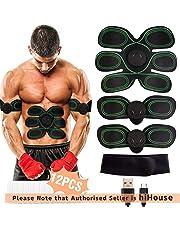 Electrostimulateur Musculaire, EMS Ceinture Abdominale Electrostimulation USB Charge, Appareil Abdominale Stimulation Massage Abdomen/Bras/Cuisse, Homme Femme Muscle Stimulateur - 8 Modes & 10 Niveaux