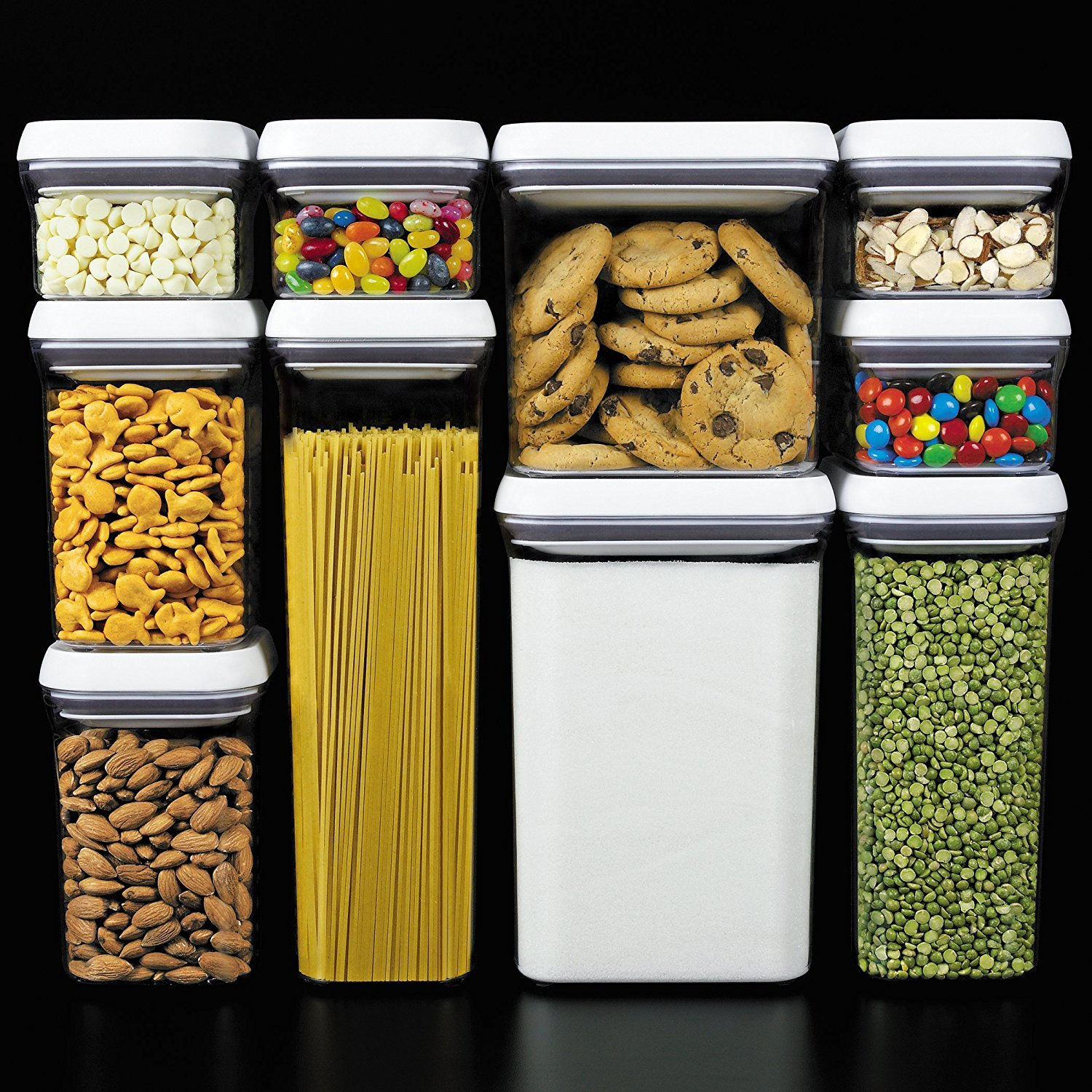 Amazon.com OXO Good Grips 10-Piece Airtight Food Storage POP Container Value Set With 10 Labels Kitchen u0026 Dining & Amazon.com: OXO Good Grips 10-Piece Airtight Food Storage POP ...