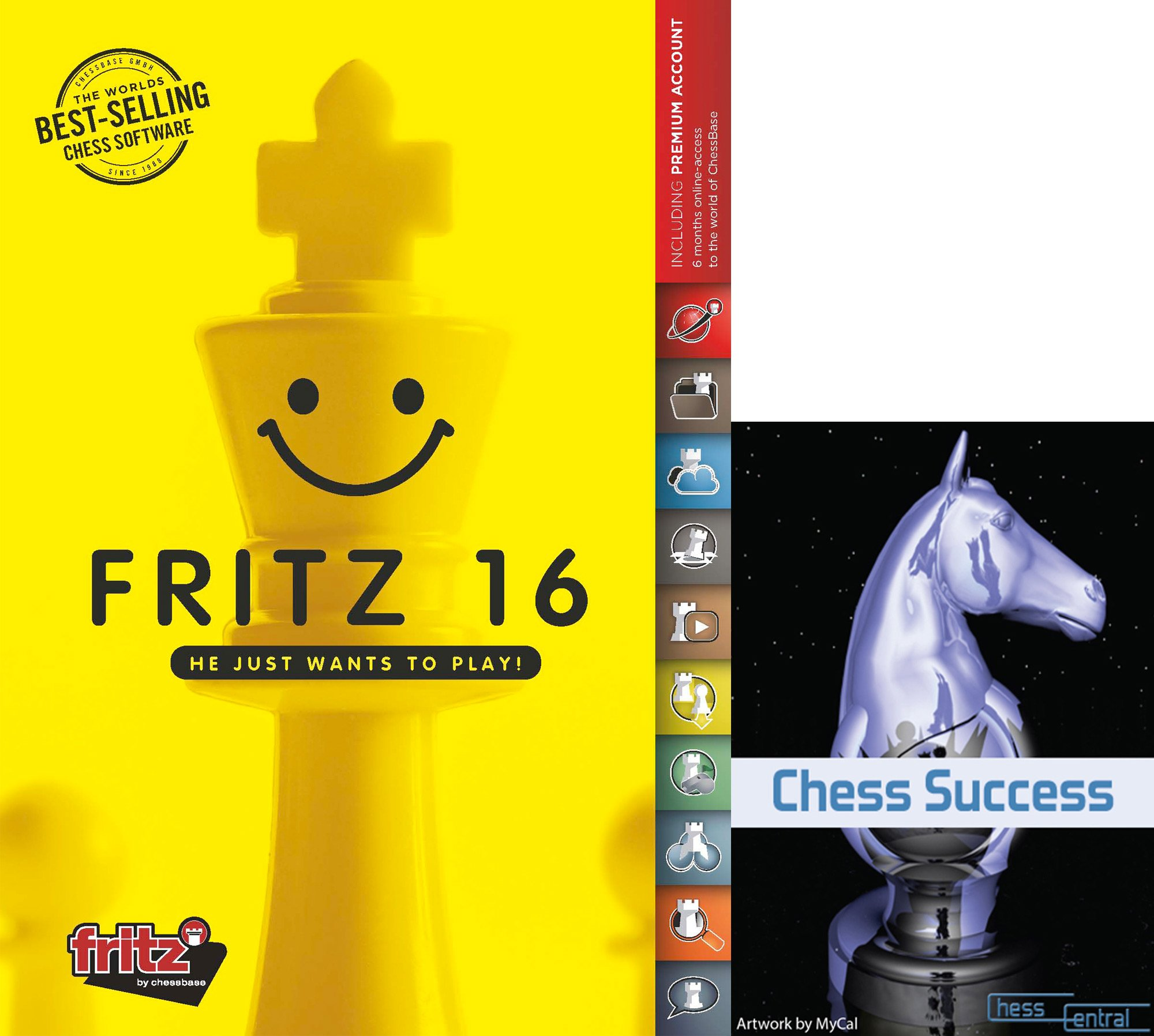 Fritz 16 Chess Playing Software Game Program Bundled with Chess Success Training Software